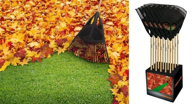 Photo of The path to contentment starts with the Fiskars XL Leaf rake