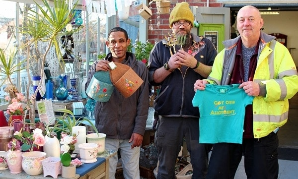 Photo of Charity garden shop in Brighton thanks mystery donor