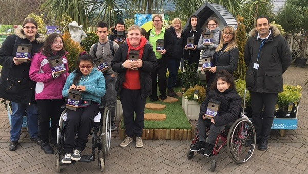 Photo of Haskins donates bird boxes to school for National Nest Box Week