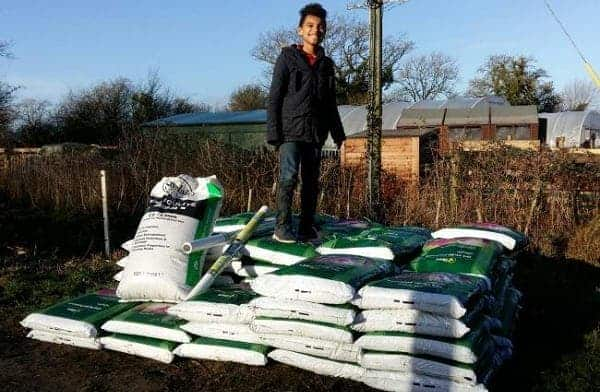 Photo of Garden centre donates materials to Care Farm students