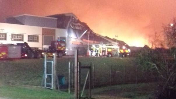 Photo of Gardman warehouse fire: Man arrested in arson inquiry