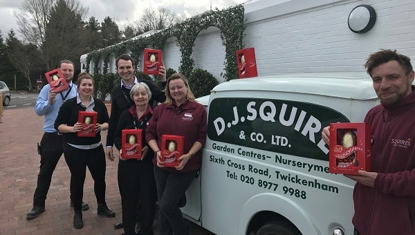Photo of Squire?s Staff Donate Easter Eggs to Eagle Radio Appeal
