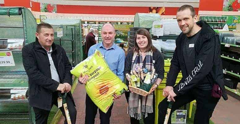 Photo of Haskins Garden Centre in Roundstone donates gardening equipment to mental health ward