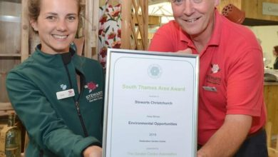 Photo of Stewarts Garden Centre in Dorset gains environment award