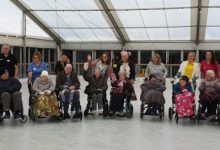 Photo of Webbs gives care home residents a skate time on the ice