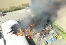Photo of Johnson's Garden Centre fire source revealed