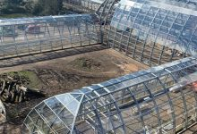 Photo of Completion in sight for advanced glass structure in botanical garden
