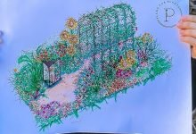 Photo of Perrywood Garden Centre supporting local designer at RHS Hampton Court
