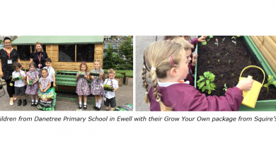 Photo of Squire's encourage local school children to grow their own